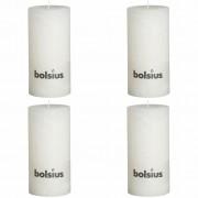 Bolsius Класически свещи 200 x 100 мм, цвят бял - 4 броя