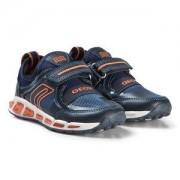 Geox Navy and Orange Junior Shuttle Sneakers Barnskor 34 (UK 2)