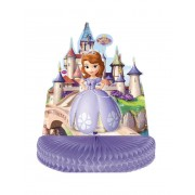 Vegaoo Prinsessan Sofia bordsdekoration med dragspelspapper One-size