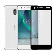 Folie protectie sticla securizata full size pentru Nokia 2, negru