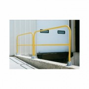 Vestil Pipe Safety Railing - Steel, 84 Inch L, Model VDKR-7, Yellow