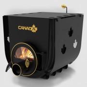 Печка на дърва Canada 02 за огрев и готвене със стъкло и защита