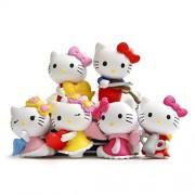 6pcs/set 3.5 CM Hello Kitty Toy Set
