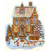 Puzzle contur SunsOut - Wendy Edelson: Gingerbread House, 1.000 piese (64435)