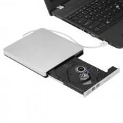 USB 3.0 portatil ultra- delgada externa reproductor de discos DVD-RW CD-RW - plata