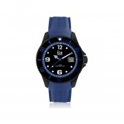 ICE WATCH Montre MATY - Montre Ice-Watch homme large silicone noir et bleu -