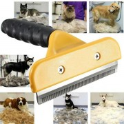L Size Pet Dog Cat Hair Fur Shedding Trimmer Grooming Rake Comb Brush Tool Supplies