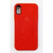 Apple iPhone X / iPhone XS / iPhone 10 (калъф пластик) 'ORIG High Copy - велур'