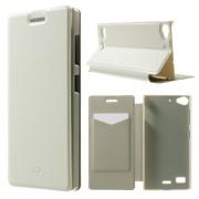 Crazy Horse кожен калъф за Lenovo Vibe X2 - бял
