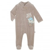 Petit Béguin Pyjama bébé velours Little Cowboy - Taille - 9 mois