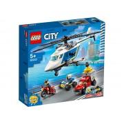 URMARIRE CU ELICOPTERUL POLITIEI - LEGO (60243)