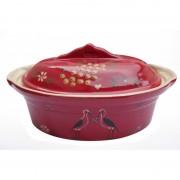 poterie Siegfried Burger Soufflenheim Terrine cigogne rouge 7 tailles disponibles
