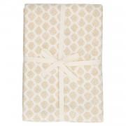 Dille&Kamille Nappe, coton bio, blanc cassé à motif de gouttes, 145 x 250 cm