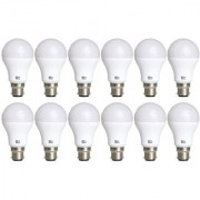Alpha B22 9-Watt LED Bulb (Pack of 12 Cool Day Light)