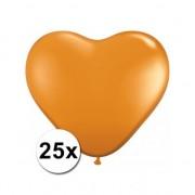 Shoppartners 25x Hart ballonnen oranje