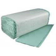 Kéztörlő Zöld V hajtogatott 20x25cm, 250 lap/csomag