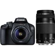 Aparat foto DSLR CANON EOS 4000D 18 MP Wi-Fi negru + Obiectiv 18-55mm + Obiectiv 75-300mm