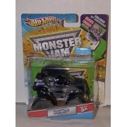 2012 HOT WHEELS GRAVE DIGGER 30TH ANNIVERSARY 1:64 MOHAWK WARRIOR MONSTER JAM TRUCK WITH EXCLUSIVE 30TH ANNV. GRAVE DIGGER POSTER