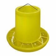 Hranitoarea pentru pasari, model C 3, 3 litri, galben