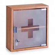 1 Medicijnkastje bamboe met glazen deur
