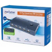 Manhattan Hi Speed 13 Port Desktop USB Hub
