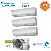 Daikin Climatizzatore Condizionatore Daikin Trial Split Inverter Serie M Ftxm R-32 Perfera 2018 Bluevolution 7+7+9 Con 3mxm52m/n