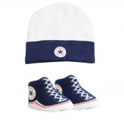 Converse - All Star Infant Hat&Booties, 0-6 luni, Bleumarin