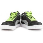 Puma Rebound Mid Lite DP Men High Ankle Sneakers For Men(Black)