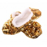 Geen Gouden glitter sloffen voor dames