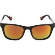 Image Retro Square Sunglasses(Blue)