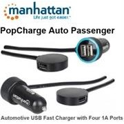 Manhattan PopCharge Auto Passenger Automotive USB