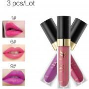 ER 12 Colores De Terciopelo Hidratante Mate Impermeable Lip Gloss Combinación 3/6pc Instalados -1#, 6#, 9#