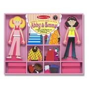 Abby & Emma - Magnetic Dress Up Wooden Doll & Stand + FREE Melissa & Doug Scratch Art Mini-Pad Bundl