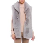 【68%OFF】シープファー ベスト ライトグレー s/36 ファッション > レディースウエア~~ベスト