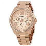 Fossil Chronograph Rose Dial Womens Watch - AM4483