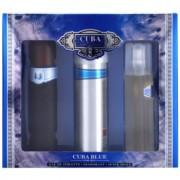 Cuba Blue подаръчен комплект II. тоалетна вода 100 ml + одеколон 100 ml + дезoдоран в спрей 200 ml