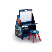 Set 2 in 1 organizator si birou cu tablita si scaun Cars 3 Activity Center Delta Children