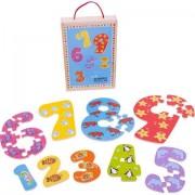 Puzzle din lemn pentru copii - Cifrele de la 1 la 9