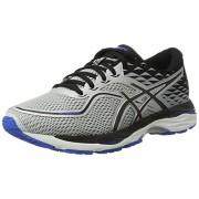 ASICS Men's Gel-Cumulus 19 Glacier Grey/Black/Directoire Blue Running Shoes - 10 UK/India (45 EU)(11 US)