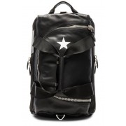 Givenchy Leather & Star Backpack in Black.