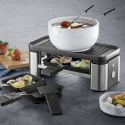 WMF KITCHENminis® Raclette in Cormargan con ciotola fonduta