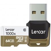 Lexar 64gb microsdhc uhs-ii 1000x + usb class 10