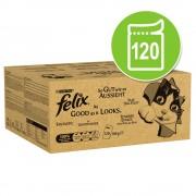 Felix As Good As It Looks бонус опаковка: 120 x 100 г - говеждо, пиле, треска и риба тон