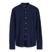 Scotch & Soda Overhemd Slim Fit Navy Blauw L