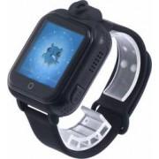 Ceas Smartwatch copii Wonlex GW1000 functie telefon camera foto buton SOS GPS SIM compatibil Digi Negru Bonus Cartela Prepaid Vodafone Power