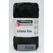 Fir de tricotat sau crosetat - Fir BUMBAC 100% MERCERIZAT CATANIA FINE NEGRU 1001