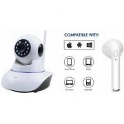 Zemini Wifi CCTV Camera and HBQ I7R Bluetooth Headset for SAMSUNG GALAXY ACTIVE NEO(Wifi CCTV Camera with night vision |HBQ I7R Bluetooth Headset )