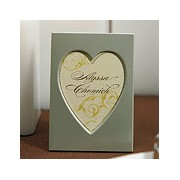 Mini Easel Back Aluminum Heart Photo Frames