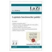 Legislatia functionarilor publici (actualizat la 10.07.2013). Cod 512
