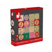 Janod Edukacyjne Janod Klocki drewniane Kubix 16 sztuk Alfabet